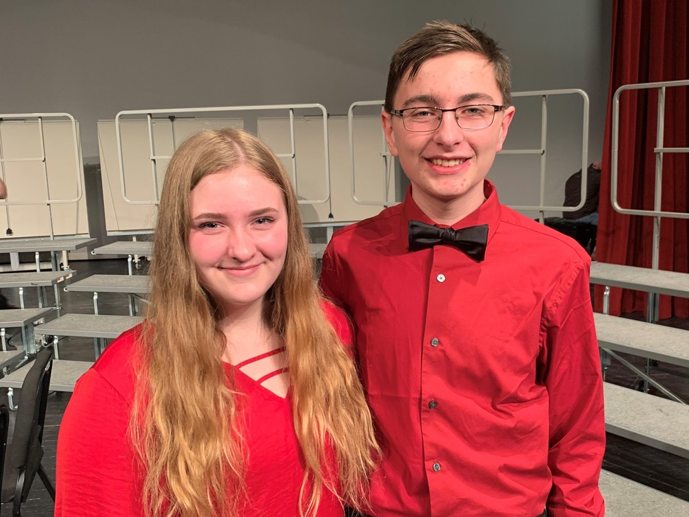 Tullis and Barse Represent Groton Area at SD JR Honor Choir