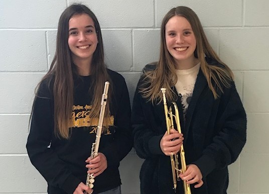 Dinger and Meier will represent Groton Area at SD Middle School-All State Band