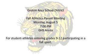 Fall Athletics to Begin