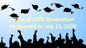 Graduation Scheduled for July 12, 2020