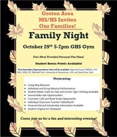 Family Night at Groton Area MS/HS GHS Gym