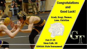 Tiger Wrestlers Bound for Sioux Falls
