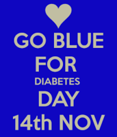 Diabetes Awareness Day- Wear Blue!