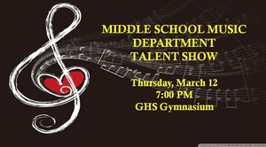 Middle School Music Department to Host 4th Annual Talent Show