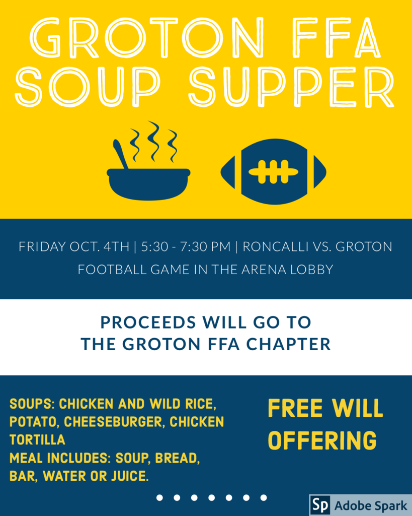 Groton FFA Soup Supper Poster