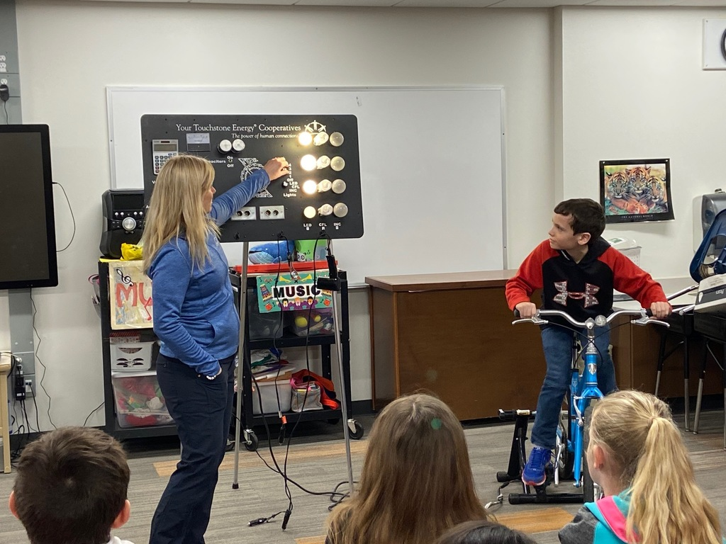 Ride that bike!!!  Students learn about the transfer of energy.